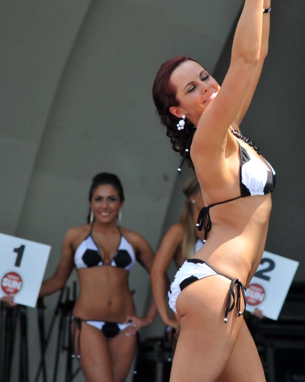 Girl dancing in a thong