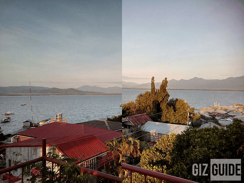 Normal photo on the left and HDR at right