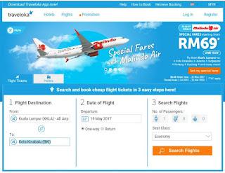Cara Menempah Airasia Ticket Secara Online, Traveloka,