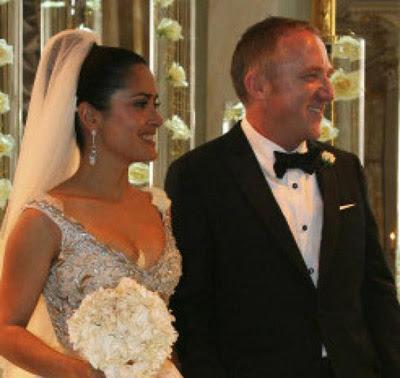 salma hayek wedding dress |Wedding Pictures