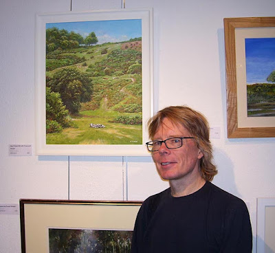 martin davey with painting new forest art exhibition