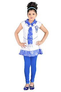 KC Dolphin Girls Blue Synthetic Dress