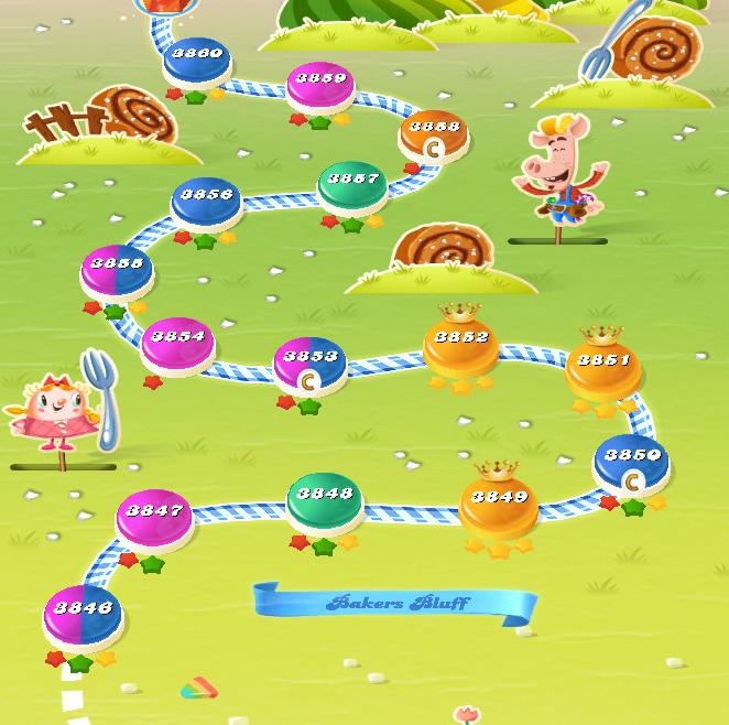 Candy Crush Saga level 3846-3870