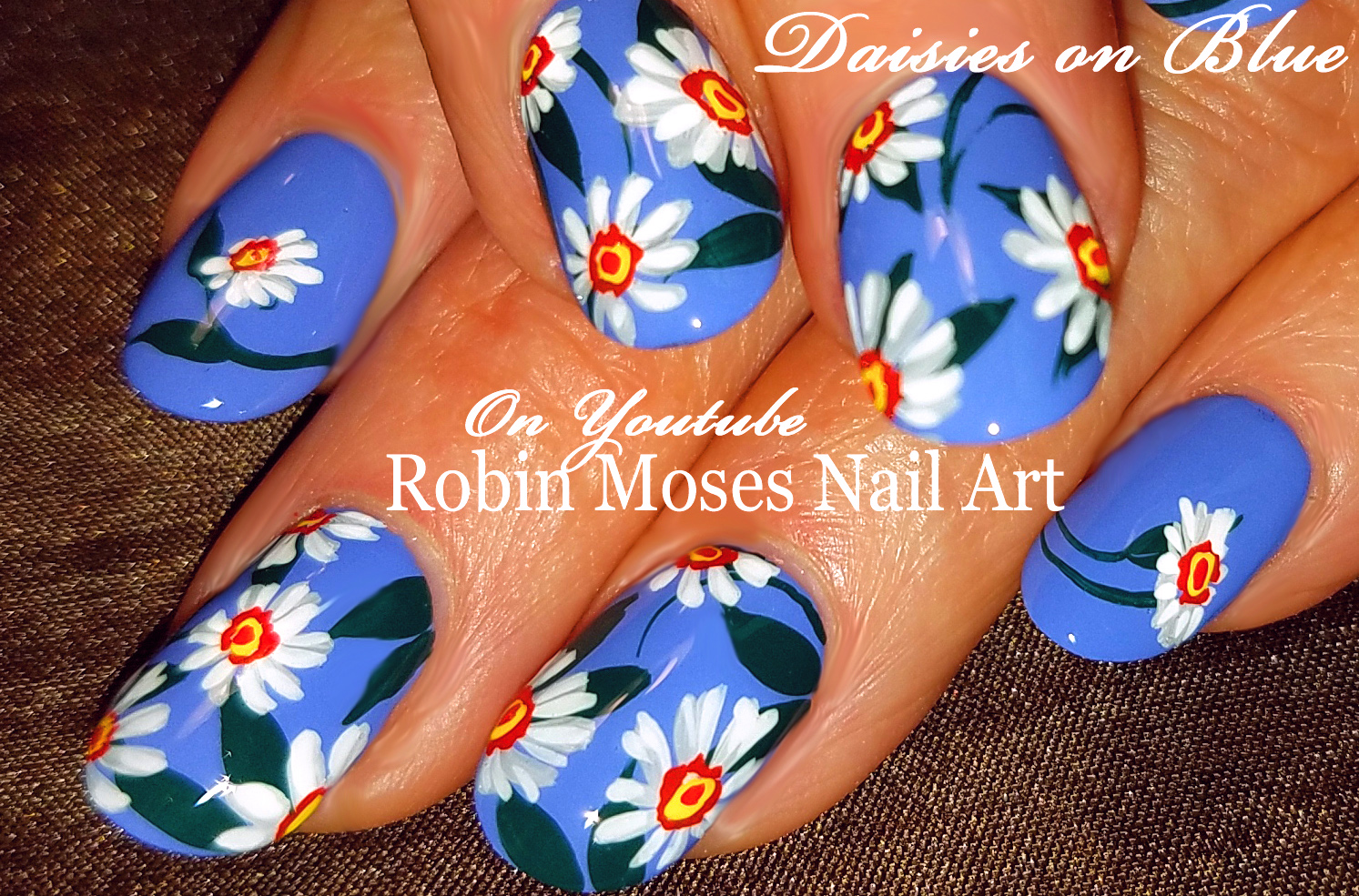 Nail Art By Robin Moses 42 Daisy Nail Art Designs In My New Daisies