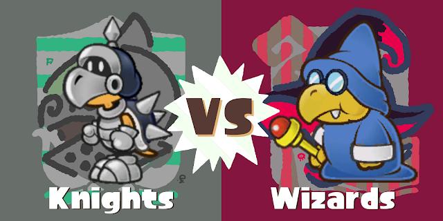 Koopatrols vs. Magikoopas Knights Wizards Splatfest Paper Mario Koopas