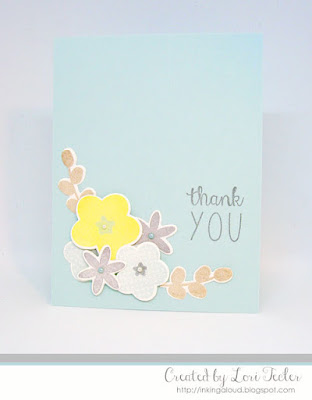 Floral Thank You card-designed by Lori Tecler/Inking Aloud-stamps and dies from Reverse Confetti