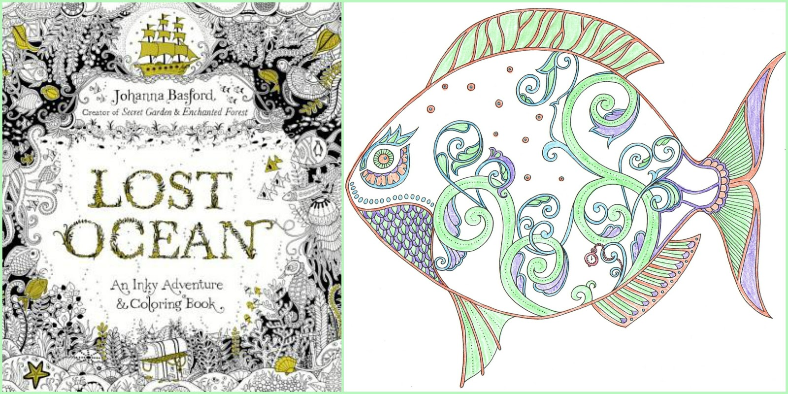 Lost Ocean By Johanna Basford Is Subtitled An Inky Adventure Coloring Book