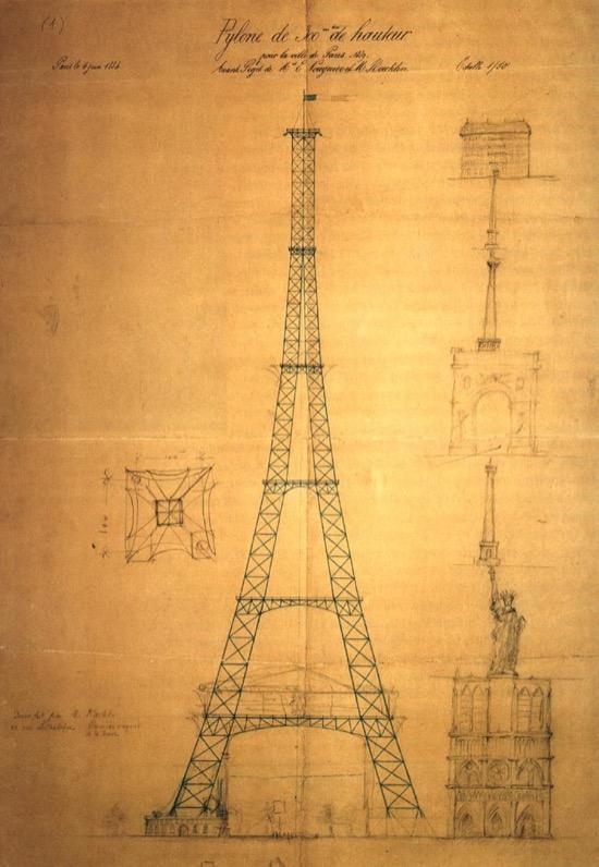 Boceto de la torre Eiffel