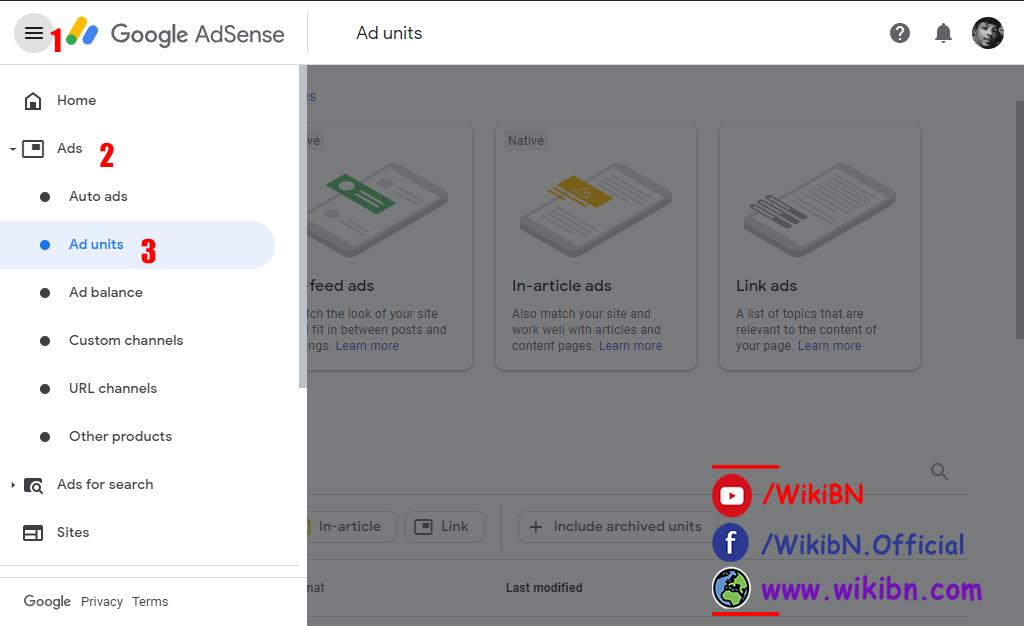 adsense ads between post setup, adsense home page