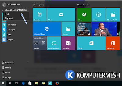 Cara Mengganti Foto Profile (Account Picture) Pada Windows 10