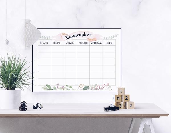 Stundenplan kostenlos ausdrucken - Stundenplan-Vorlage für Schüler und Studenten. By titatoni.de