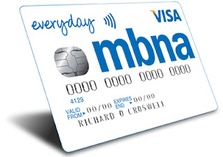 mbna credit card account