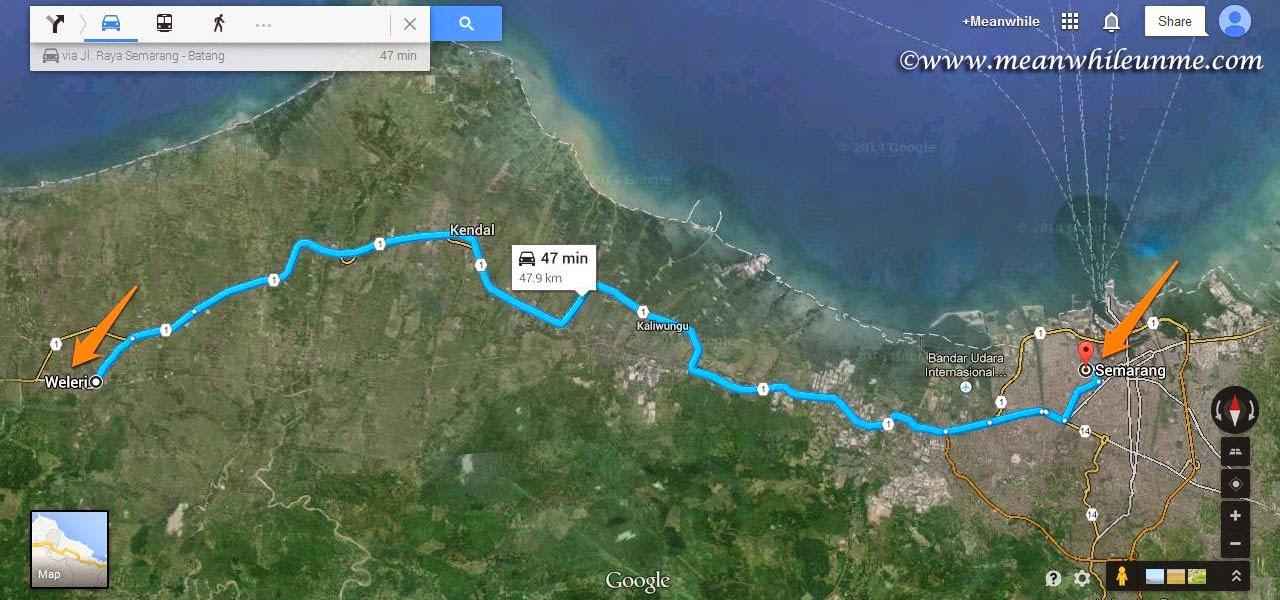Peta Rute Weleri Kendal menuju Semarang