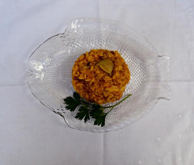 receta casera arroz gambas fc olla rápida