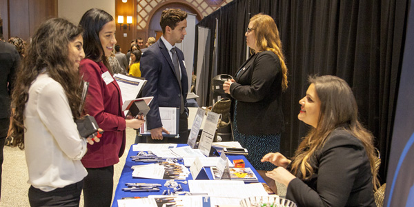 SDSU students at a career fair.