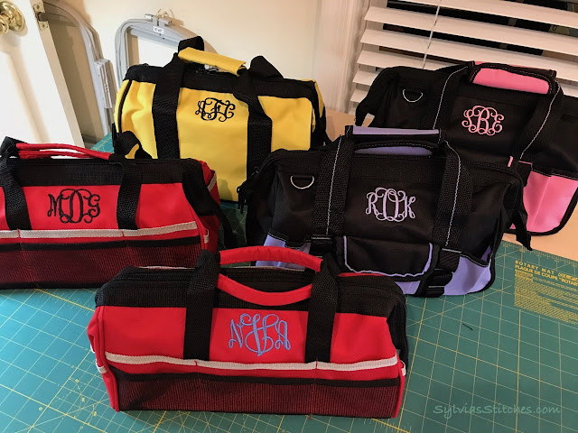 How to Monogram Tool Bags for Gifts