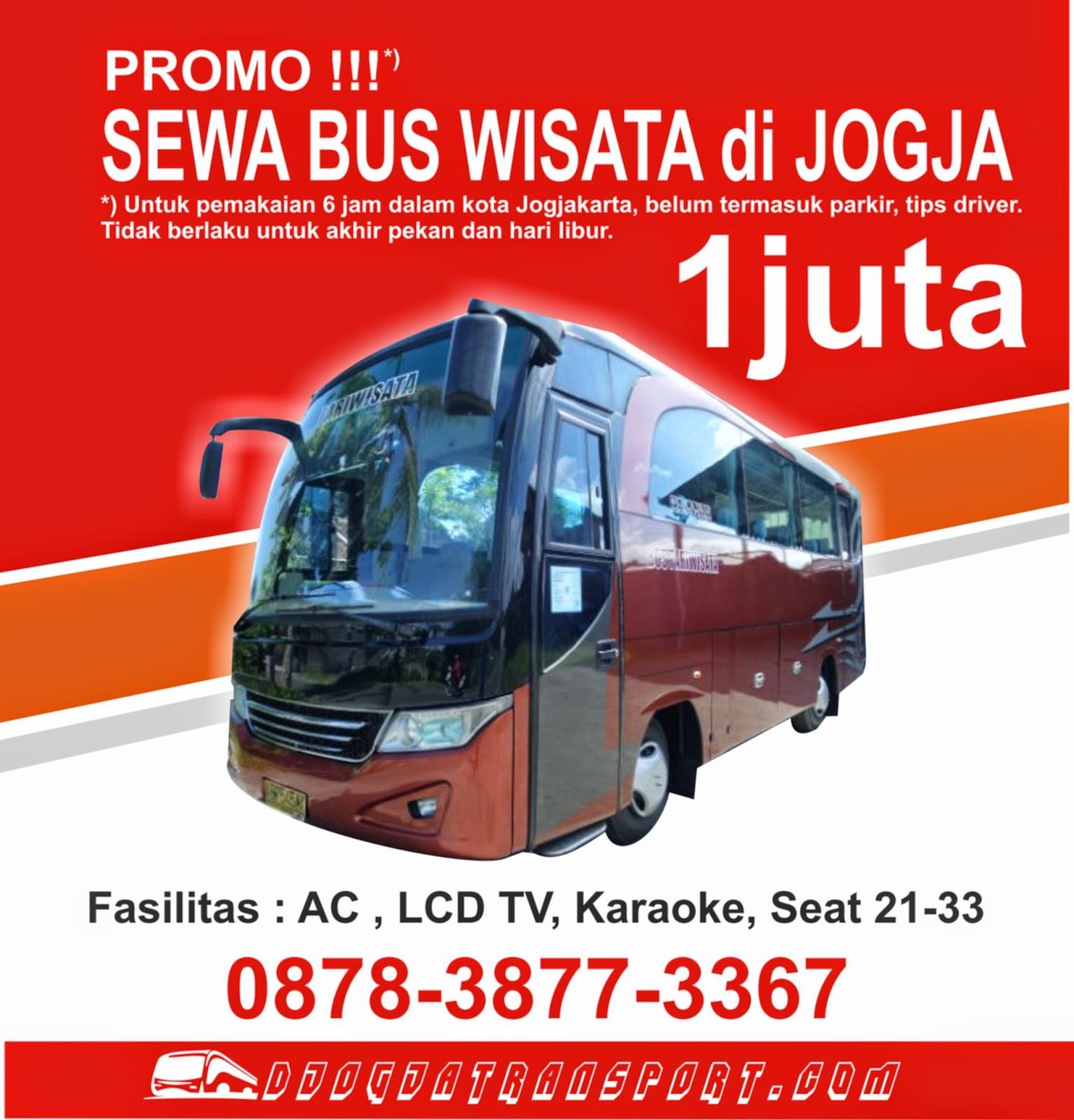 gambar dari promo sewa bus wisata di Jogjakarta