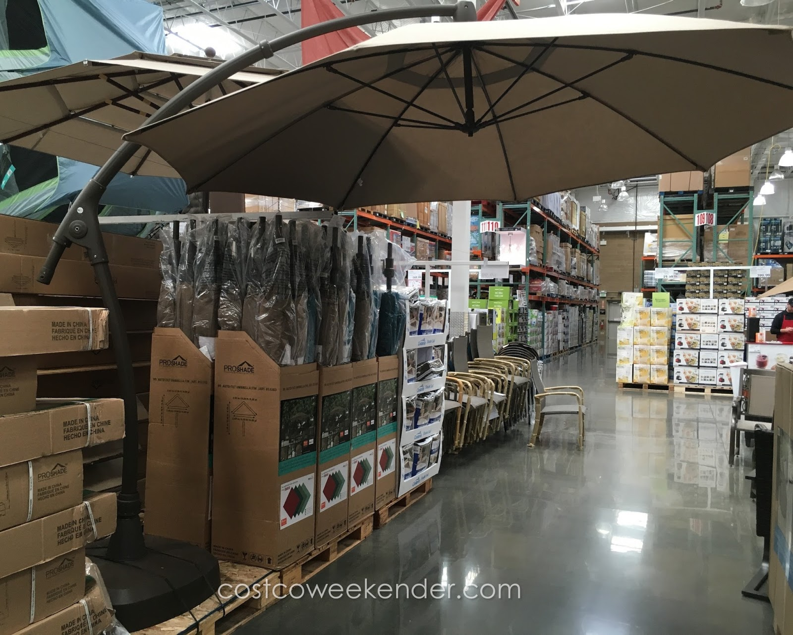 proshade 11 ft market umbrella with tilt costco weekender
