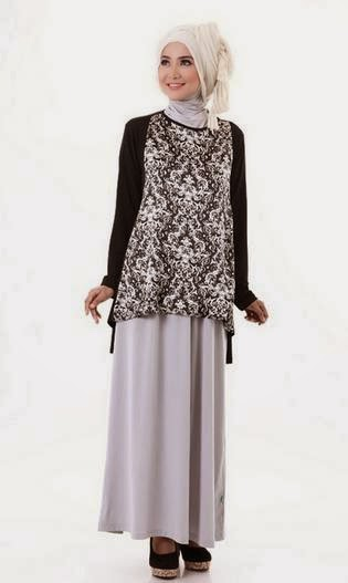 Model baju batik muslim modern modis untuk remaja