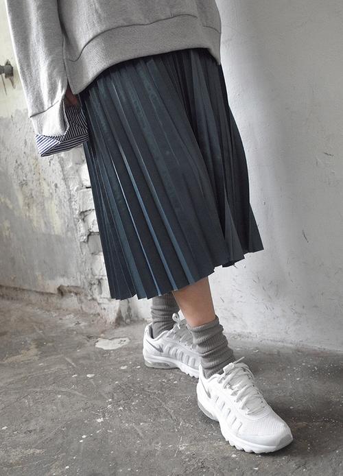 Long Accordion Pleat Skirt