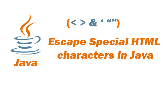 Escape Special HTML characters in Java Projects with Maven Tutorial