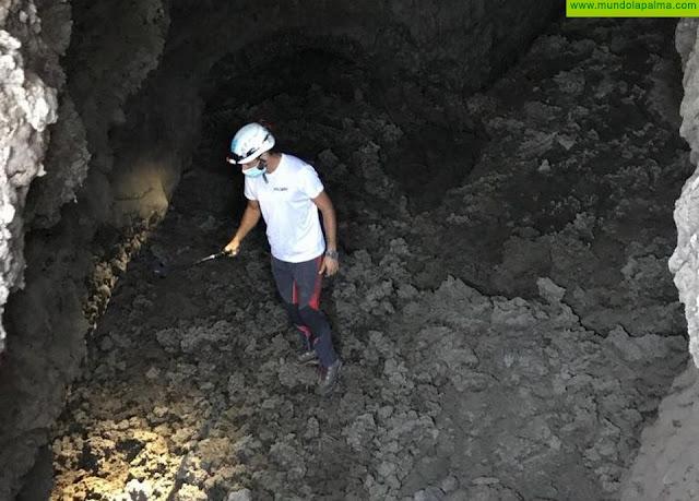 Medio Ambiente analiza las características del nuevo tubo volcánico hallado en Las Manchas