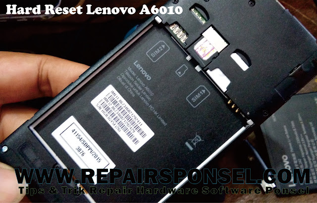Hard Reset Lenovo A6010 Recovery Mode