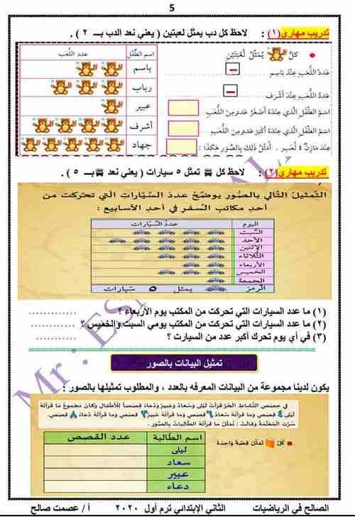 الدرس الأول رياضيات المنهج الجديد للصف الثانى الابتدائى ترم أول 2020