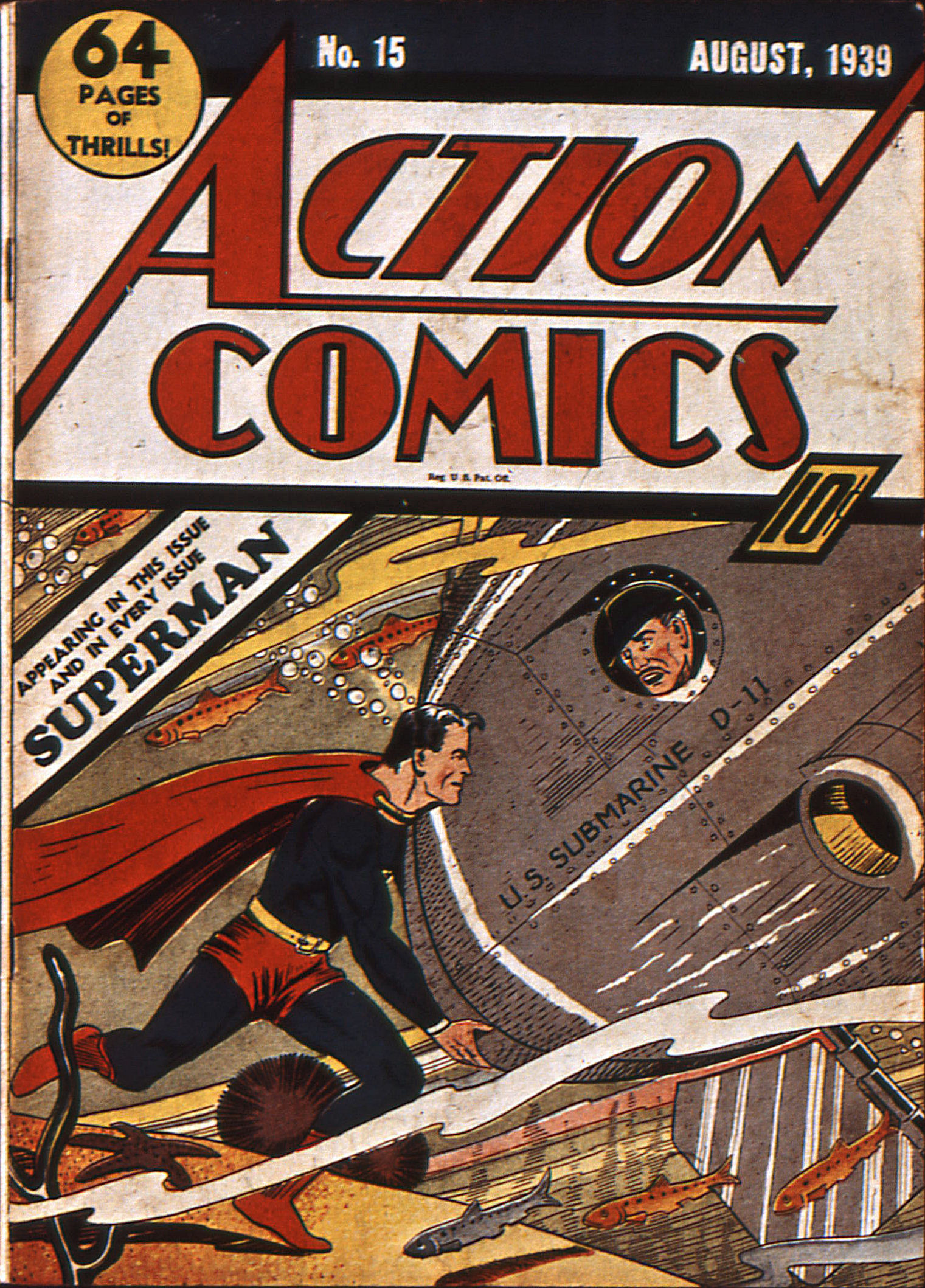 Read online Action Comics (1938) comic -  Issue #15 - 1