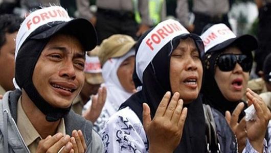 Honorer: Demo Sejak 2015, Tak Sekali pun Dihiraukan Presiden Jokowi