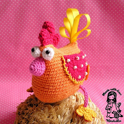 crochet pattern, crochet Vendulka, crochet Easter decoration, crochet bird pattern