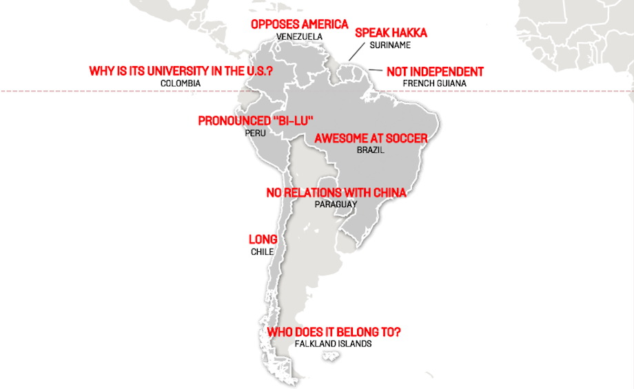 Chinese stereotypes of South America