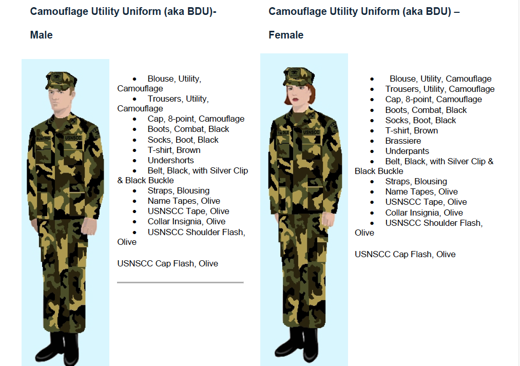 Sea Cadet Uniform Regulations 17