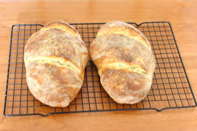 home-baked sourdough bread