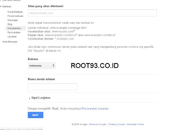 Menambahakan Gooogle Custom Search 2