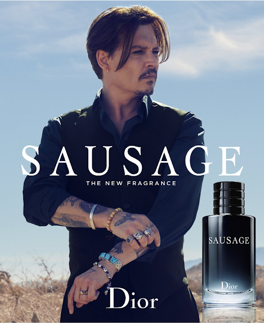 Funny Dior Sausage Fragrance Johnny Depp Joke Picture