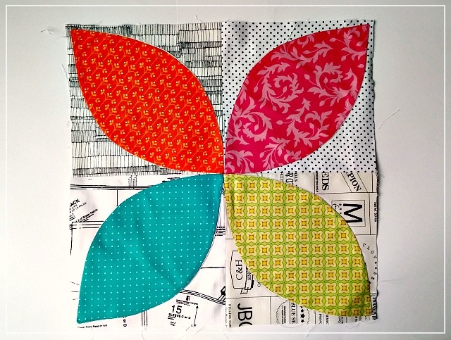 Patchwork, Orange Peel block, bee block, Puppilalla, quilting bee