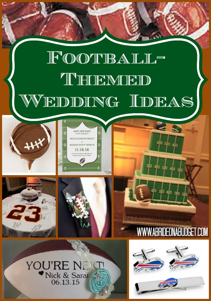 Football Themed Wedding Ideas