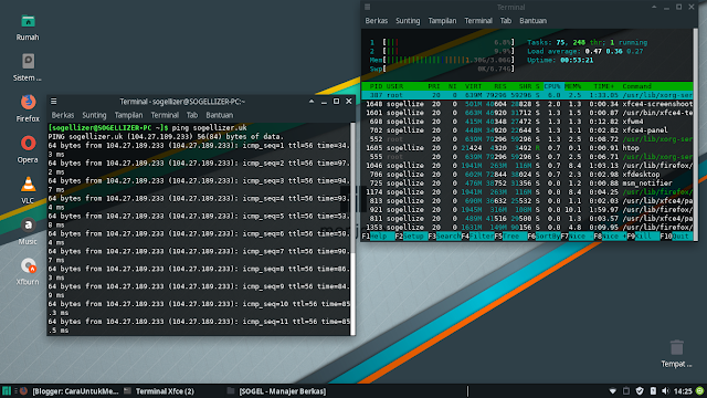 Manjaro Linux Home Screen