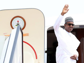Buhari arrived kaduna airport