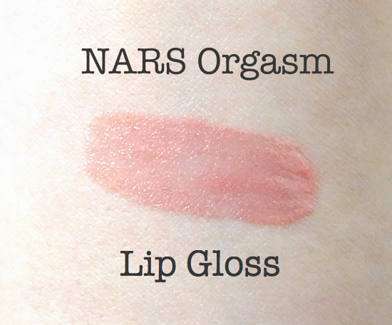 NARS Orgasm Lip Gloss Swatch