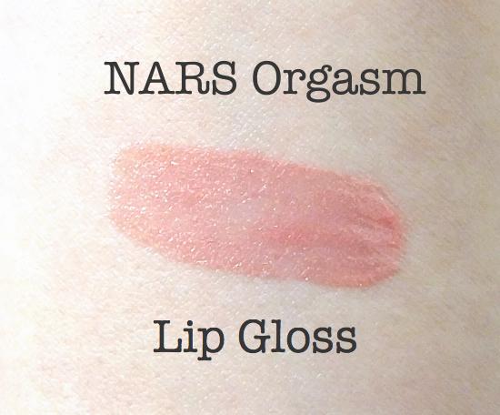 NARS Orgasm Lip Gloss Swatch
