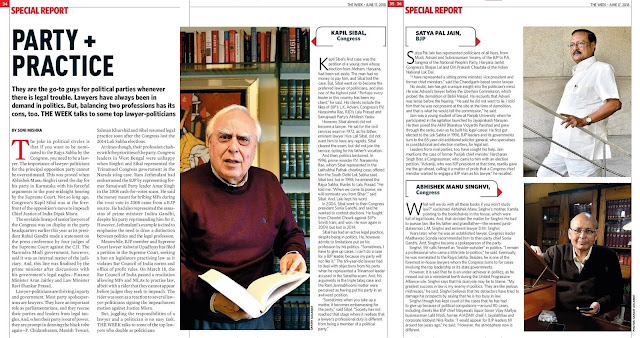 Party + Practice: Go-to-guys for political parties when in legal trouble, top lawyers have always been in demand in politics - Kapil Sibal, Satya Pal Jain, Abhishek Manu Singhvi