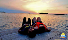sunset pulau harapan yang romantis