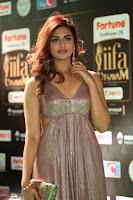 Telugu Actress Aarthi in Deep Neck Backless Golden Gown at IIFA Utsavam Awards 2017 Exclusive 38.JPG