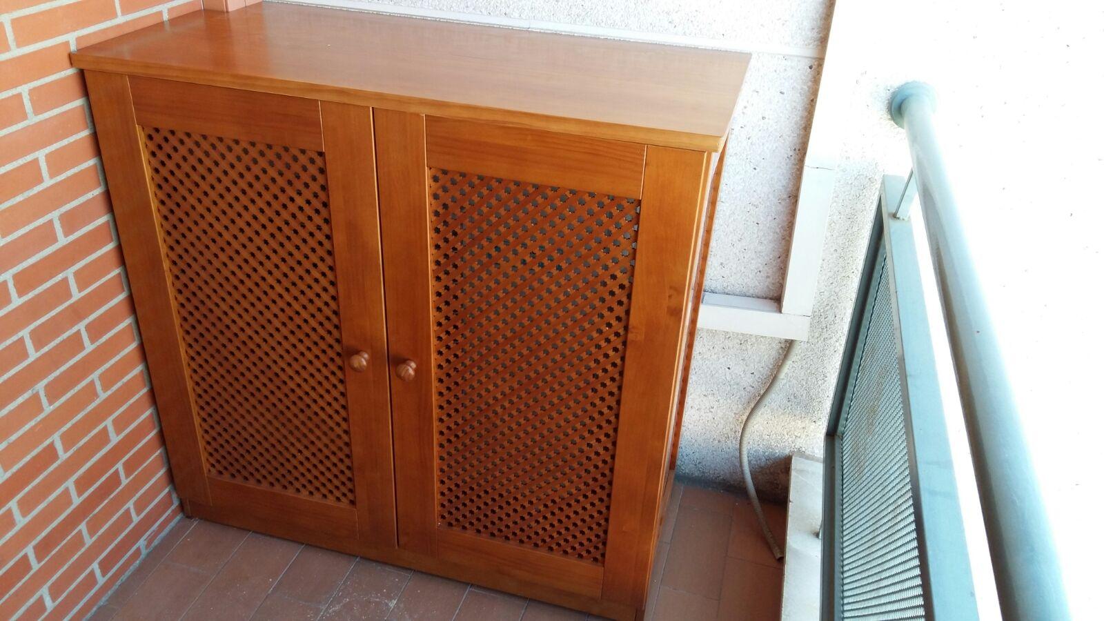 Muebles A Medida Modulo Para Cubrir Aire Acondicionado En Pino  # Muebles Rejilla