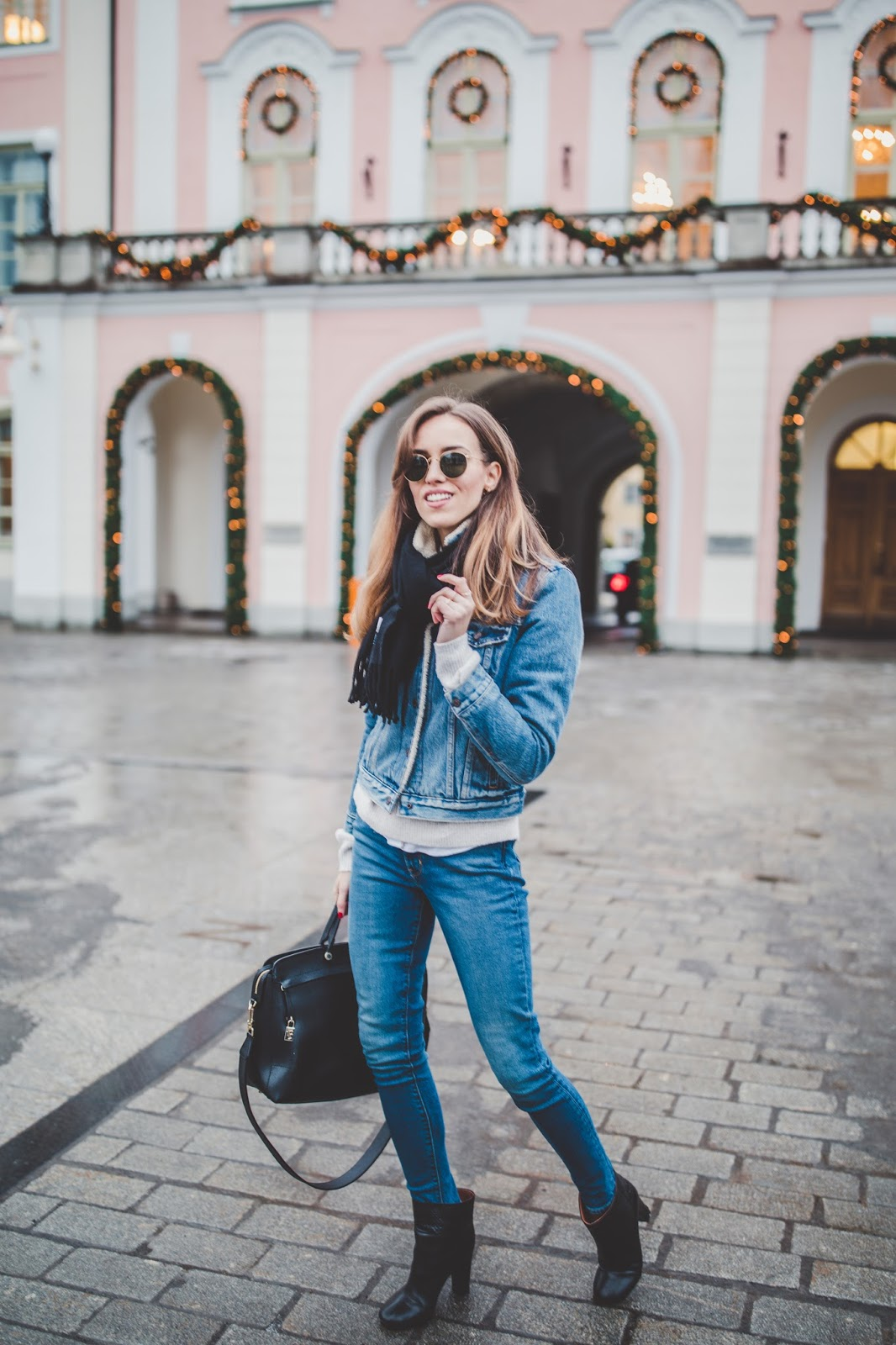 double denim outfit winter street style
