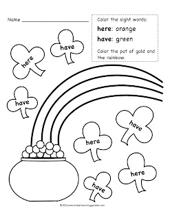 March Activity Sheets
