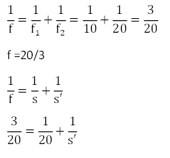 Menghitung jarak bayangan lensa