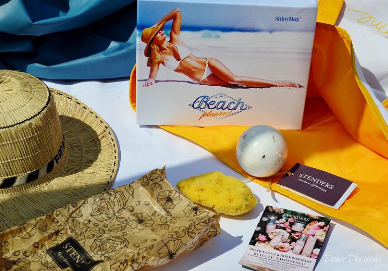 ShinyBox Beach please! - Stenders Różana musująca kula do kąpieli i Naturalna morska gąbka ( gęsta )